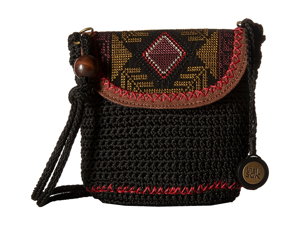 The Sak - Sayulita Flap (Black Tribal) Handbags