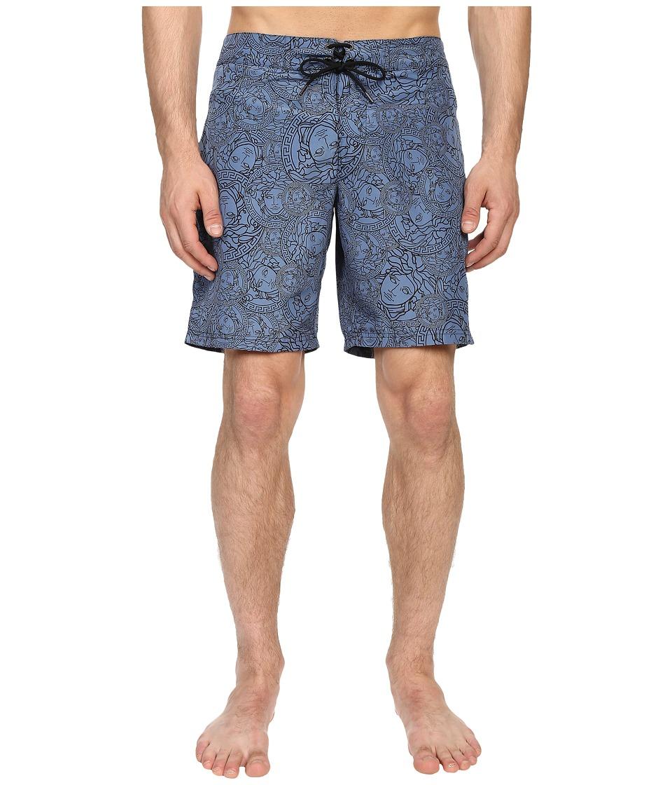 Versace Medusa Nylon Long Trunk Cornflower Mens Swimwear