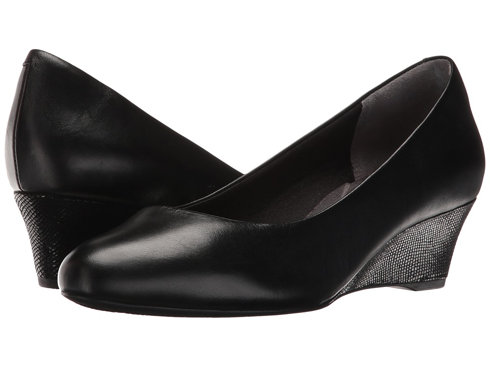 Rockport - Total Motion Catrin (Black Leather) Womens Shoes