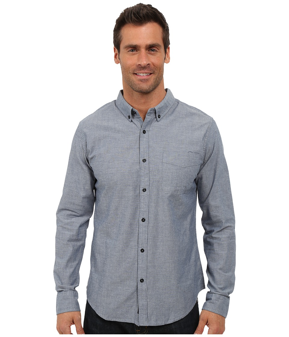 United By Blue Bryce Button Down Blue Mens Clothing
