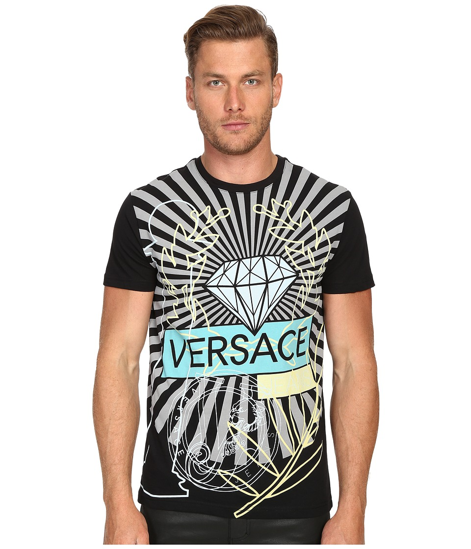 Versace Jeans Diamond Luna T Shirt Black Mens T Shirt