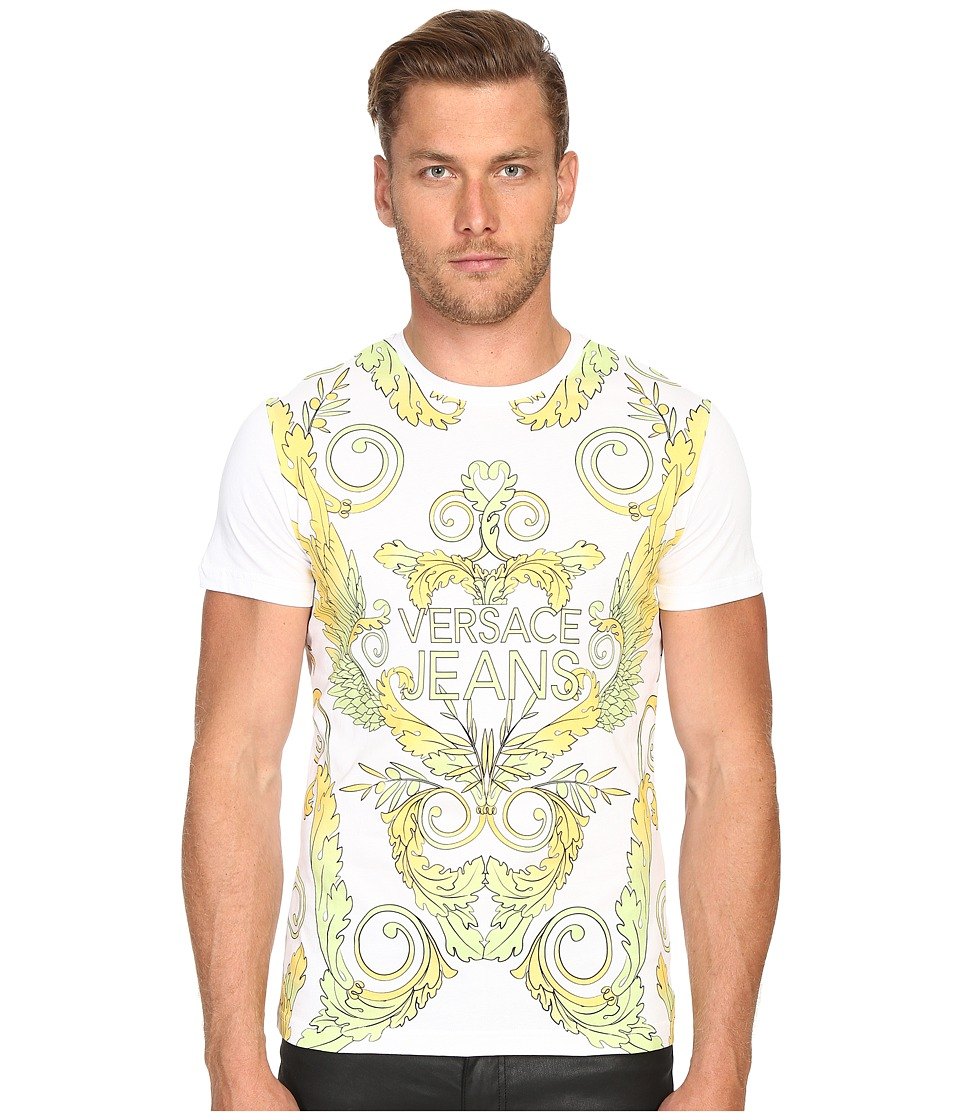 Versace Jeans Baroque Mars T Shirt White Mens T Shirt