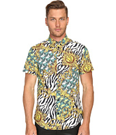 Versace Jeans - All Over Baroque Tiger Print Short Sleeve Button Up