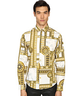 Versace Jeans - Marbled Kaleidoscope Print Long Sleeve Button Up