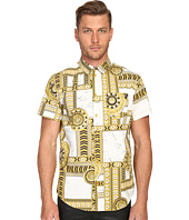 Versace Jeans - Marbled Kaleidoscope Print Short Sleeve Button Up