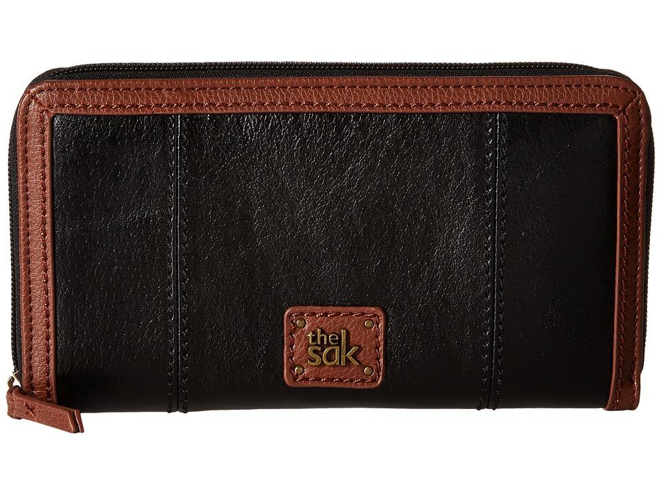 The Sak - Iris Zip Around Wallet (Black Onyx) Wallet Handbags