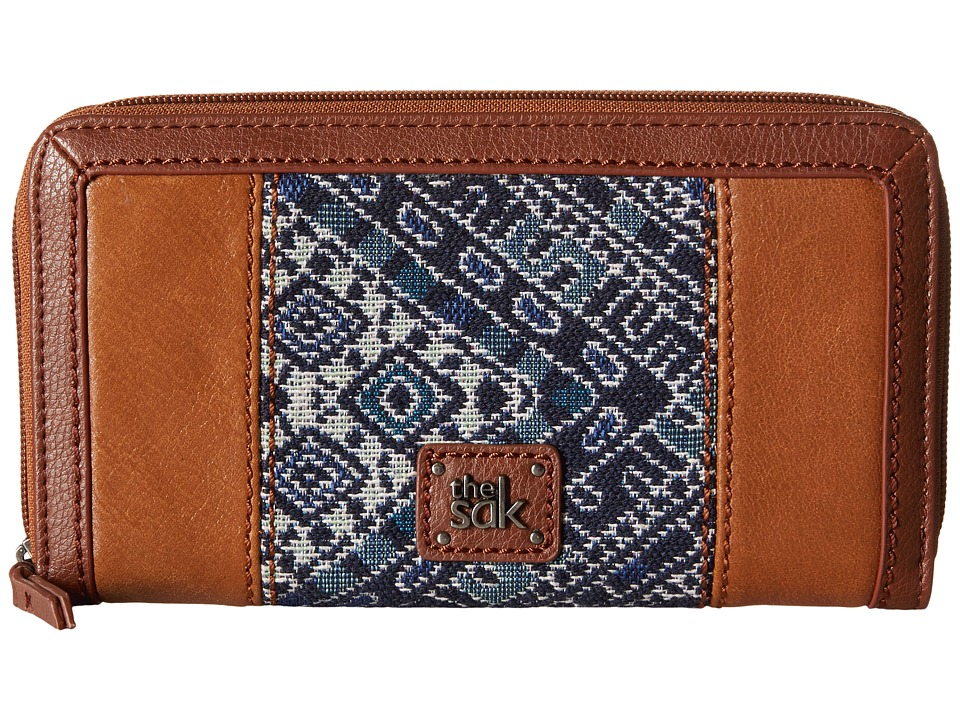 The Sak - Iris Zip Around Wallet (Blue Diamond) Wallet Handbags