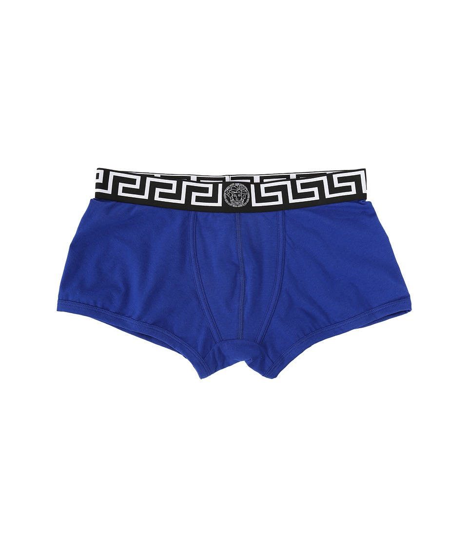 Versace Iconic Long Boxer Brief with Black Band Bluette Mens Underwear