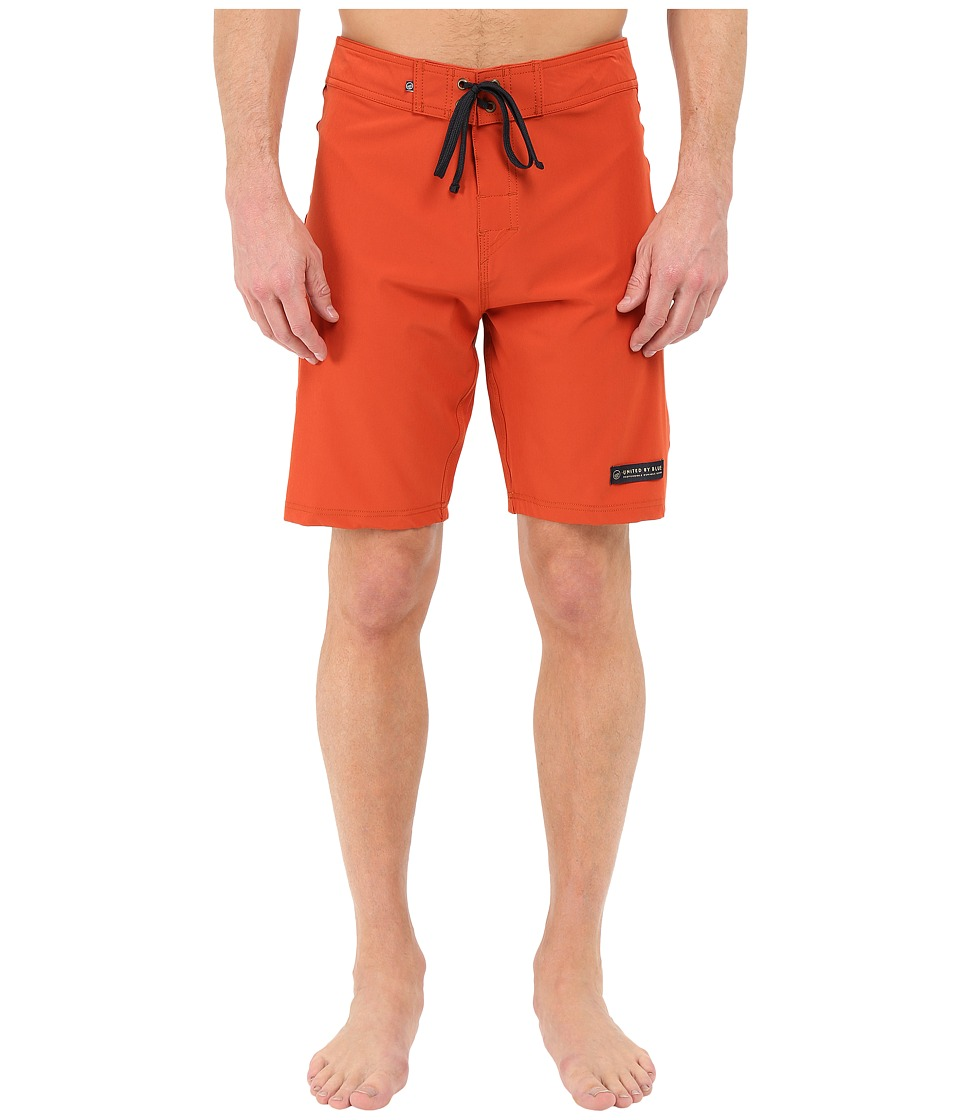 United By Blue Classic Boardshorts Red Mens Swimwear