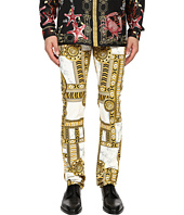 Versace Jeans - Slim Fit Marbled Kaleidoscope Print Pants