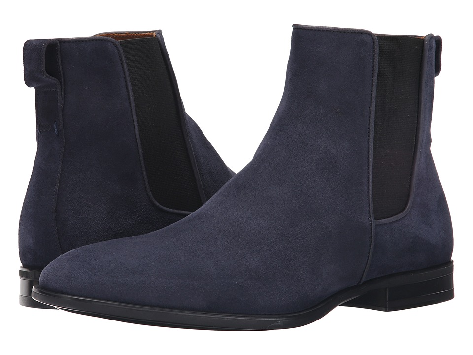 Aquatalia Adrian Navy Dress Suede Mens Pull on Boots
