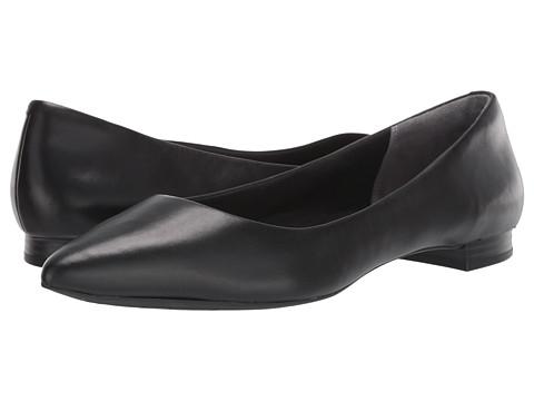 Rockport Total Motion Adelyn Ballet - Black Burn Calf