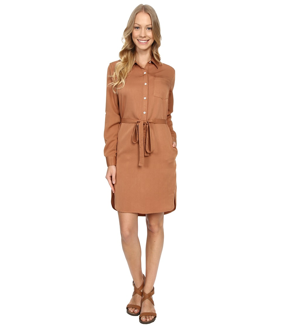 United By Blue Banbury Tencel Dress Tan Womens Dress