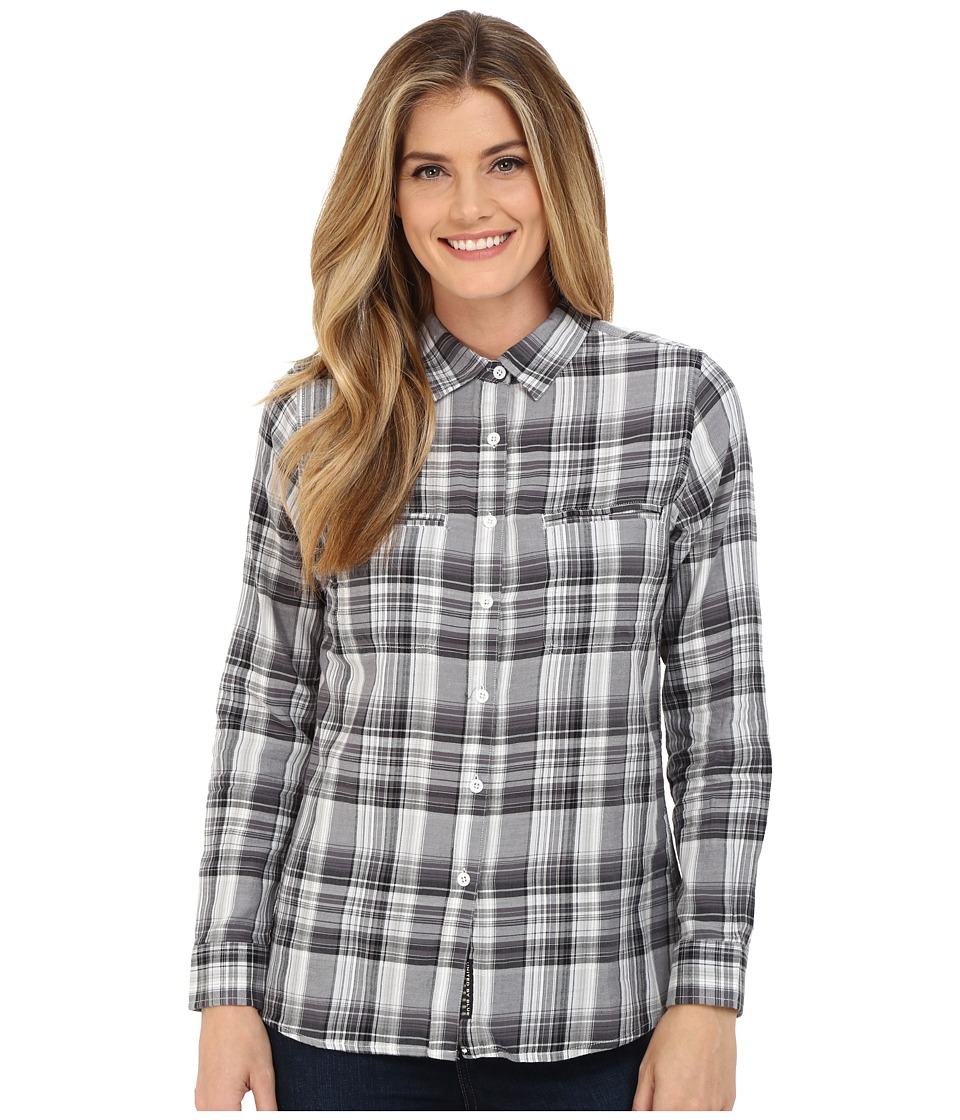 United By Blue Ash Plaid Shirt Black/White Womens Clothing