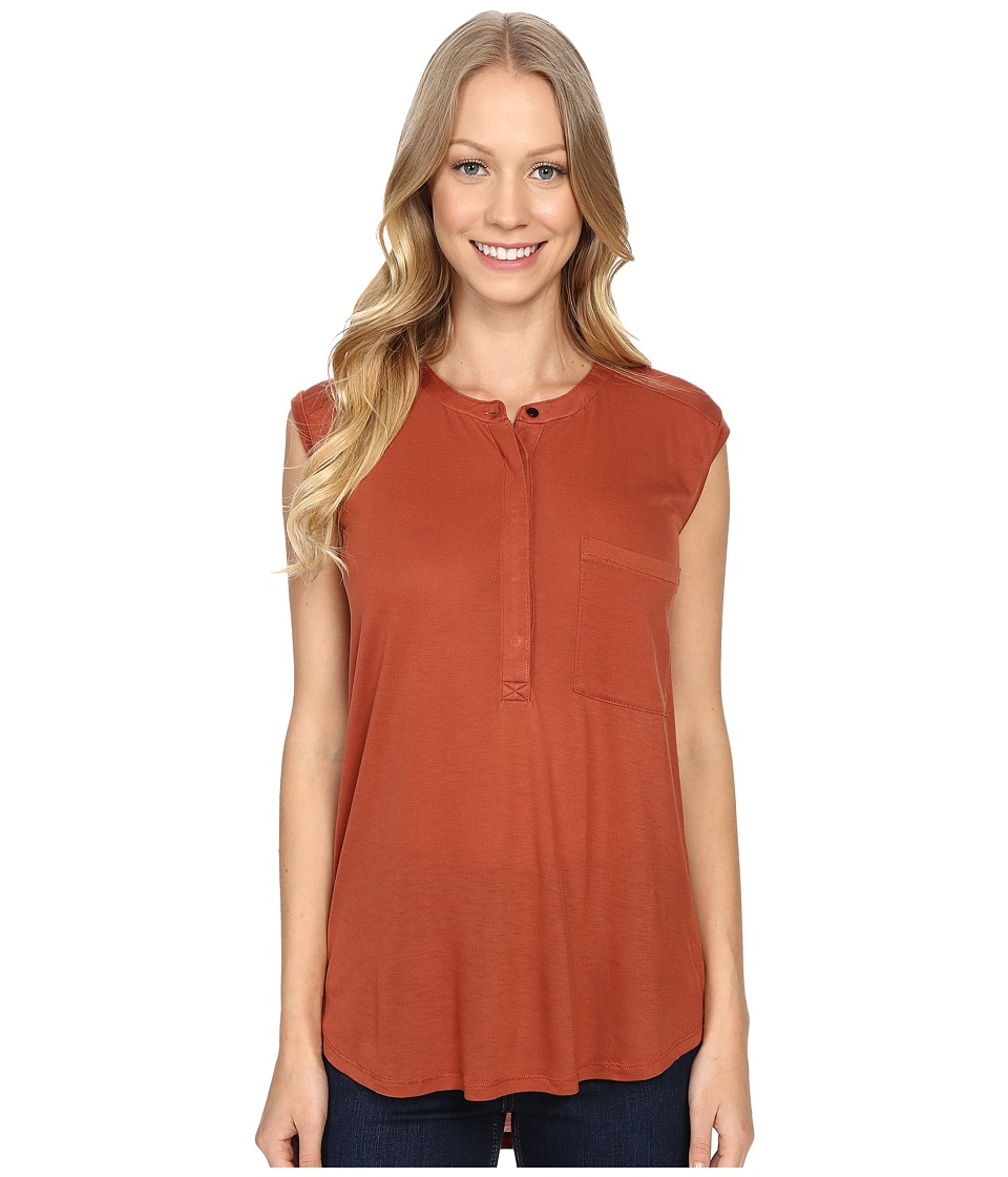 United By Blue Avalon Tank Top Rust Womens Sleeveless