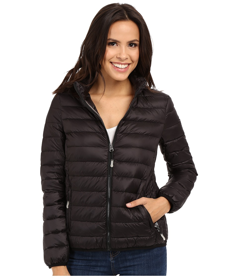 Tumi Clairmont Packable Travel Puffer Jacket (Black) Women