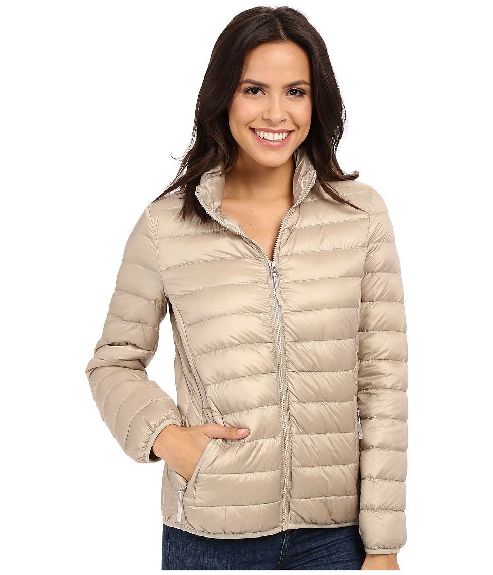 Tumi - Clairmont Packable Travel Puffer Jacket (Sand) Women's Coat