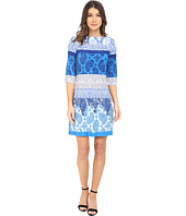 Donna Morgan - 3/4 Sleeve Lace Print Jersey Shift