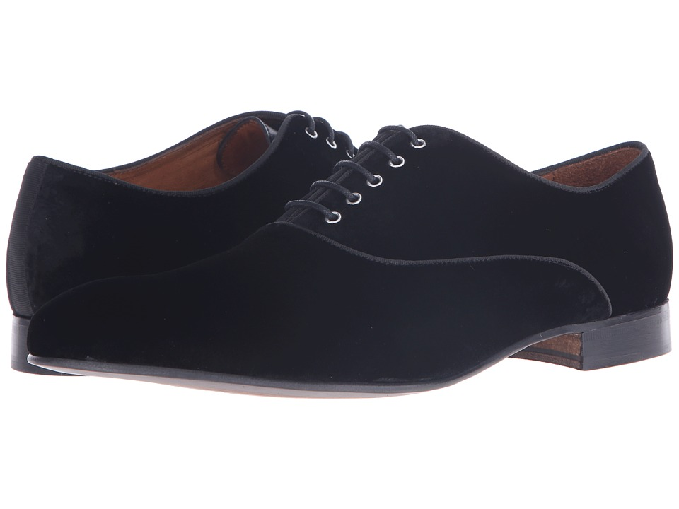 Massimo Matteo Velvet Lace-Up (Black) Men