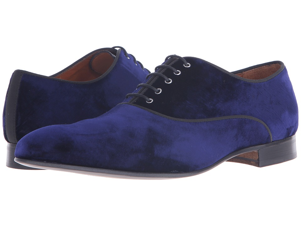 Massimo Matteo Velvet Lace-Up (Navy) Men