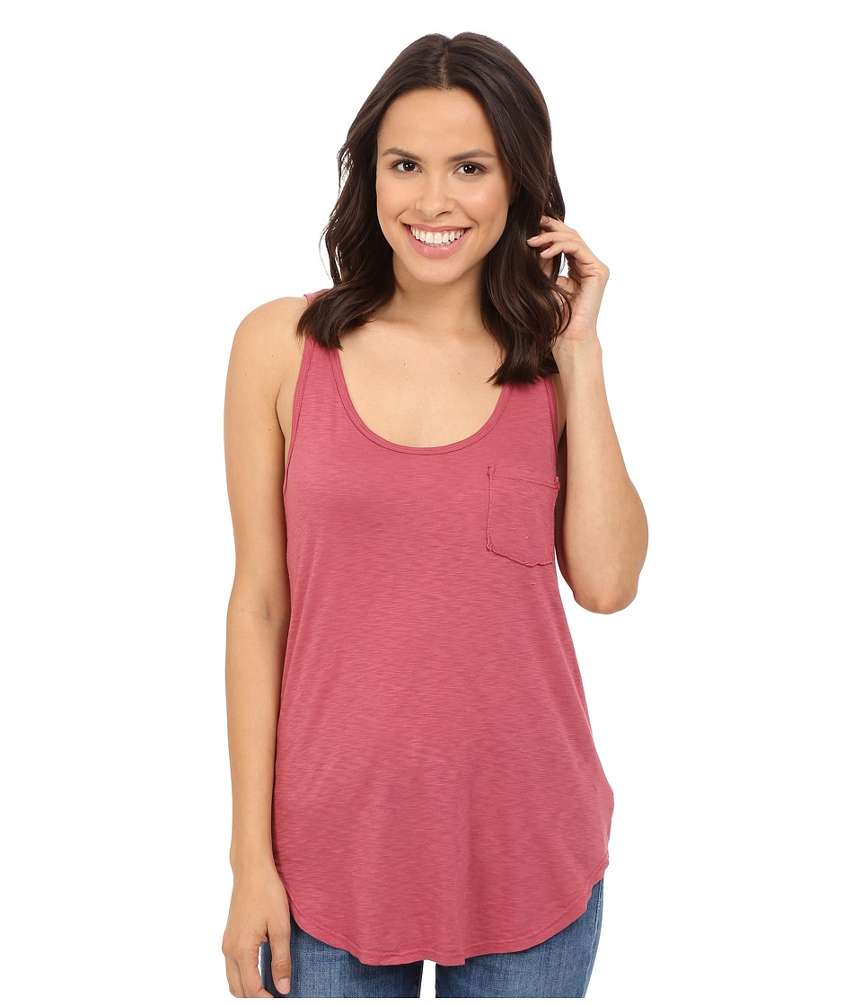 LAmade Boyfriend Tank w/ Pocket Sienna Rose Womens Sleeveless