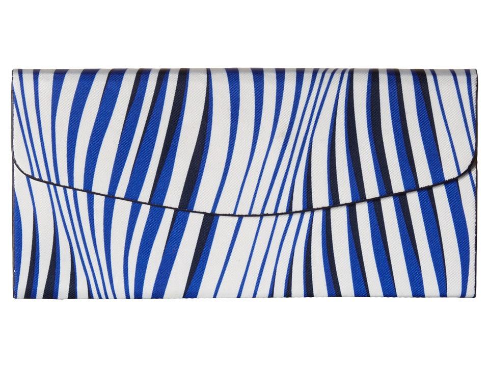 Vera Bradley Foldable Sunglass Case Wavy Stripe/Navy Wallet
