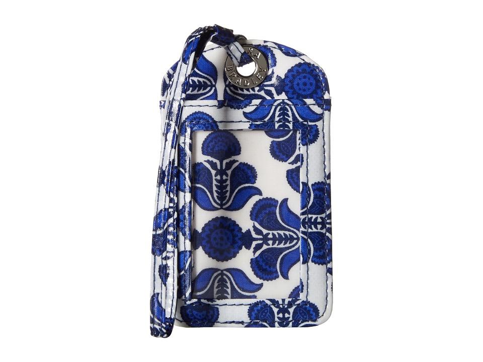 Vera Bradley Luggage Tag Cobalt Tile Wallet