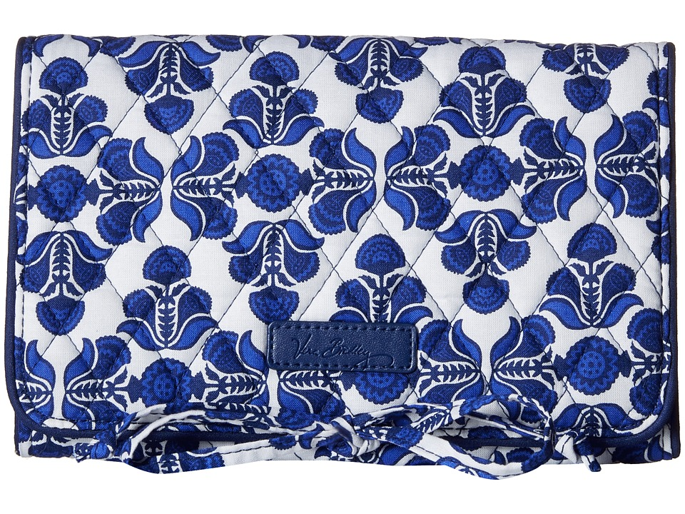 Vera Bradley - All Wrapped Up Jewelry Roll (Cobalt Tile) Wallet