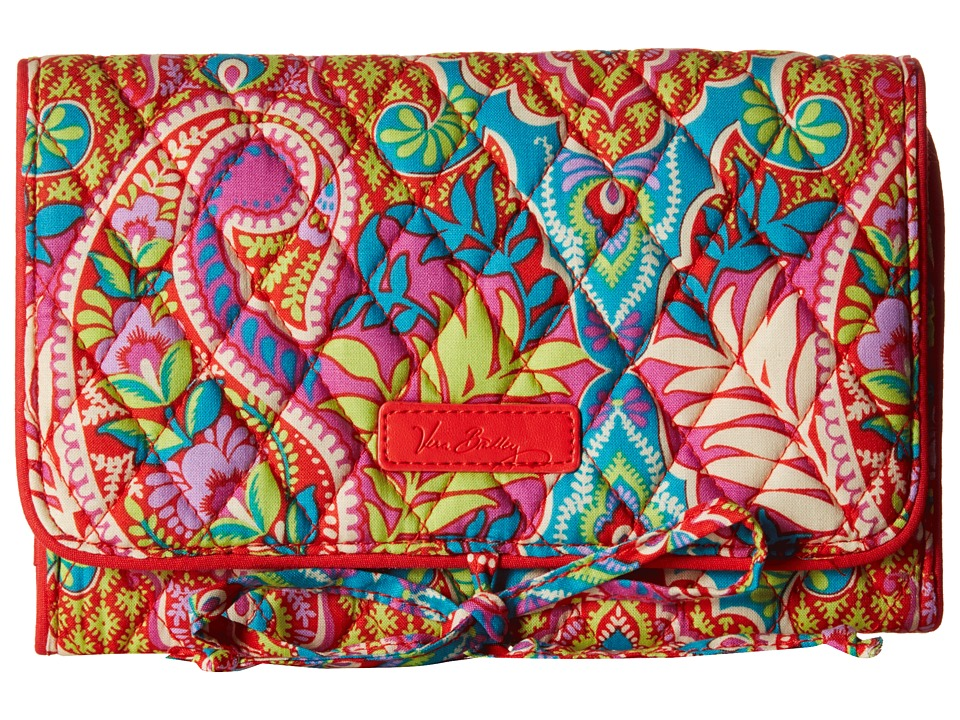 Vera Bradley - All Wrapped Up Jewelry Roll (Paisley in Paradise) Wallet