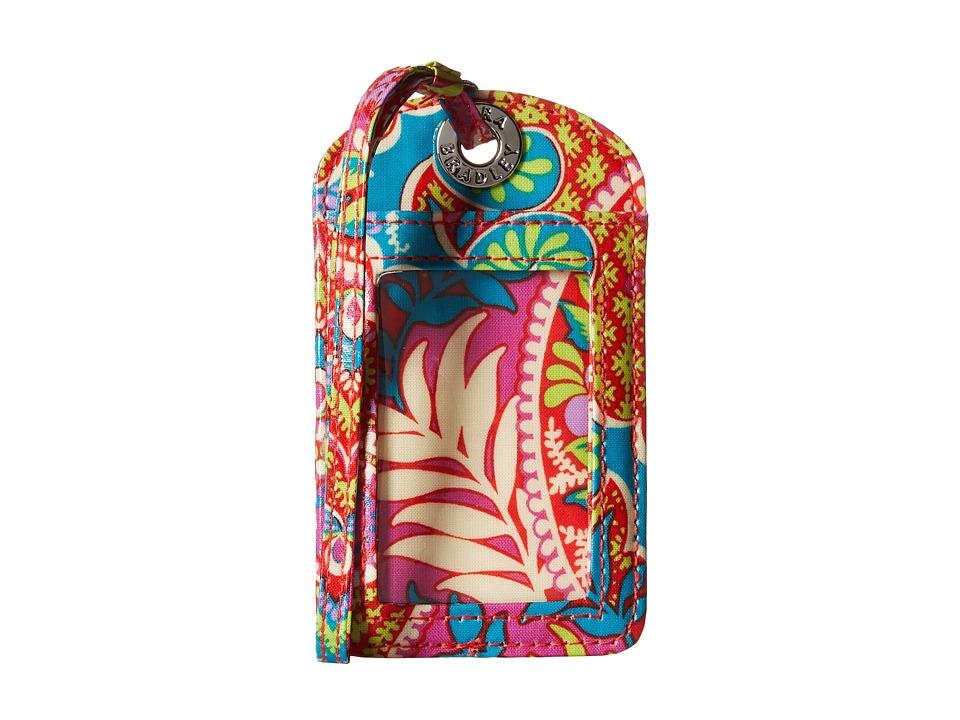 Vera Bradley Luggage Tag Paisley in Paradise Wallet
