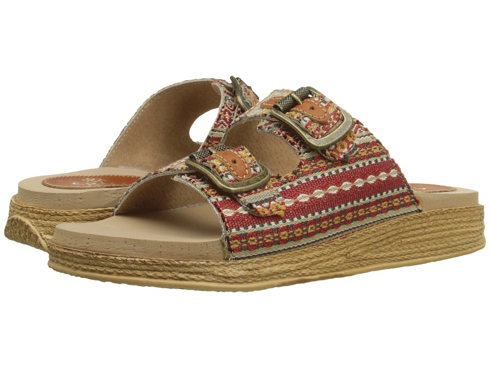 Sbicca Shawna Red Multi Womens Sandals