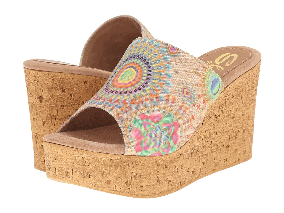Sbicca Starboard Natural Multi Womens Sandals