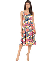 Donna Morgan - Sleeveless Pique Printed Midi Dress