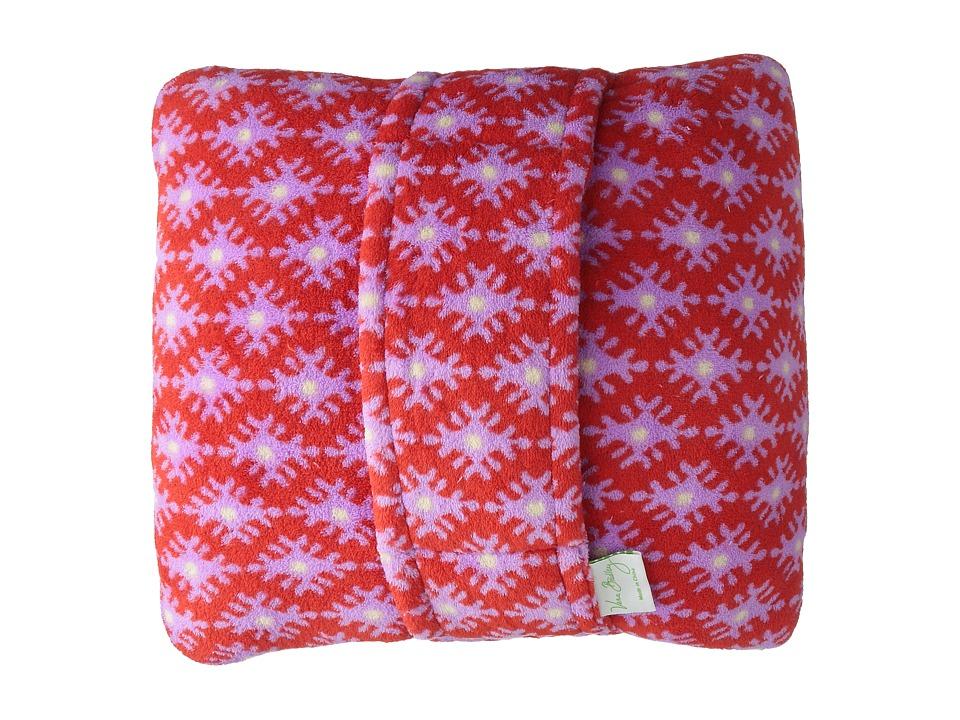 Vera Bradley Fleece Travel Blanket Petite Paradise Red Blankets