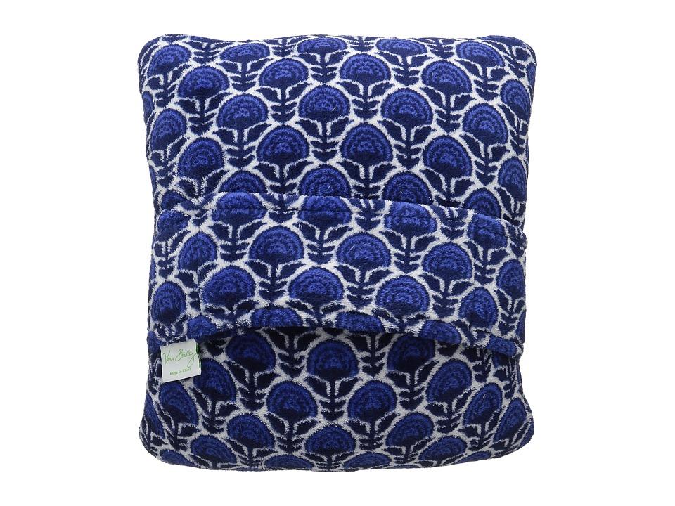 Vera Bradley Fleece Travel Blanket Cobalt Blooms Blankets