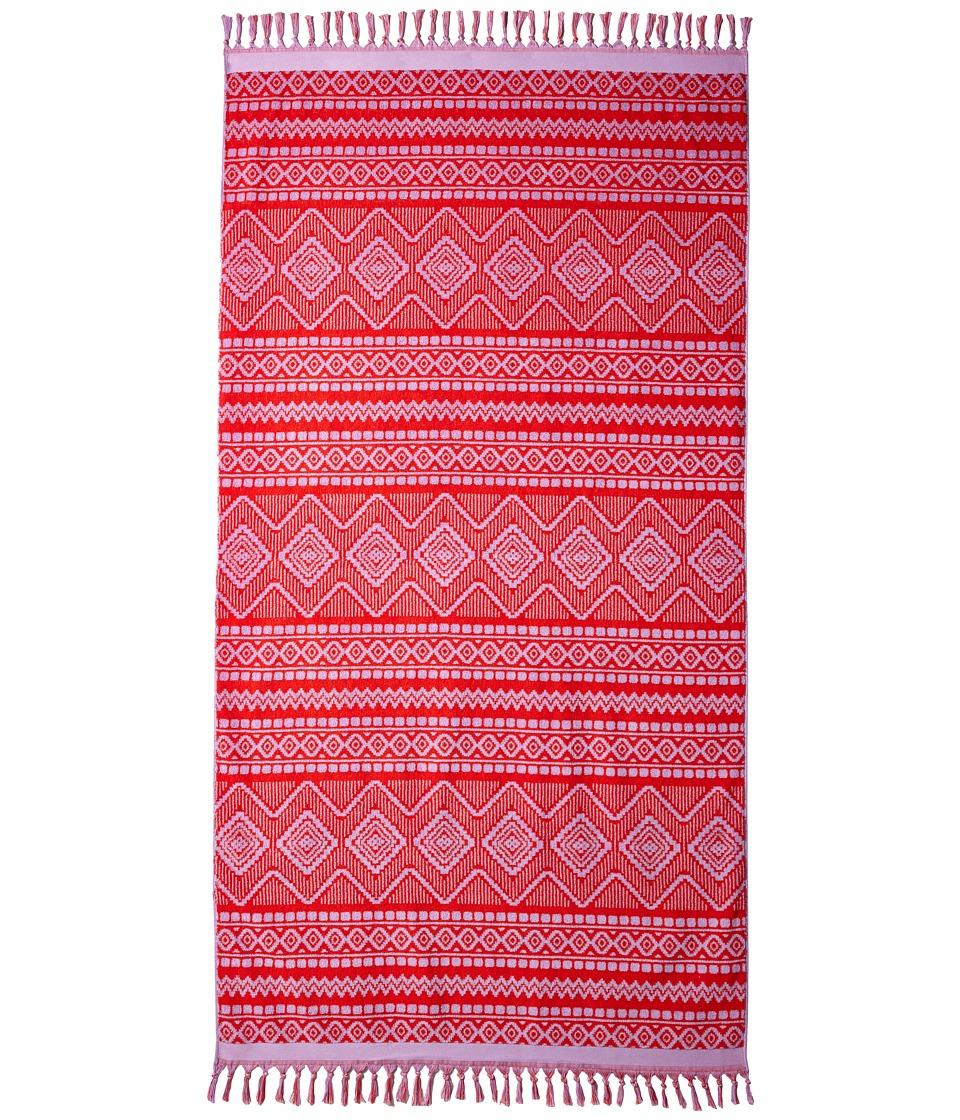 Vera Bradley Tassel Beach Towel Aztec Red Bath Towels