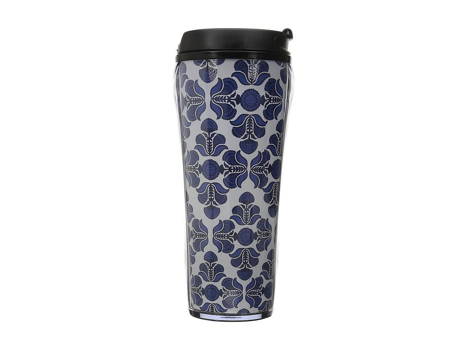 Vera Bradley Travel Mug Cobalt Tile Individual Pieces Cookware