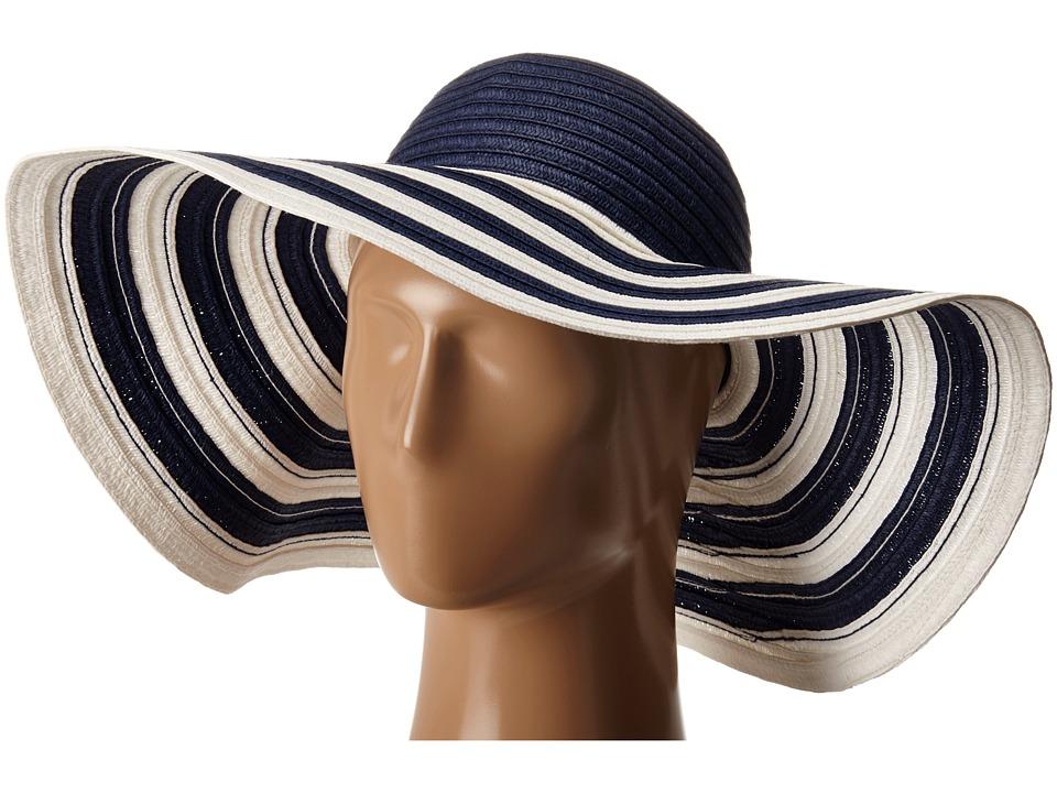 Vera Bradley - Sun Hat Navy Stripe Caps $23.00 AT vintagedancer.com