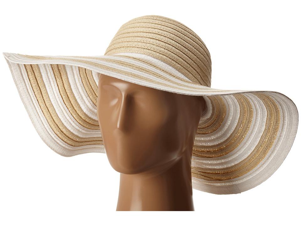 Vera Bradley - Sun Hat Natural Stripe Caps $28.00 AT vintagedancer.com