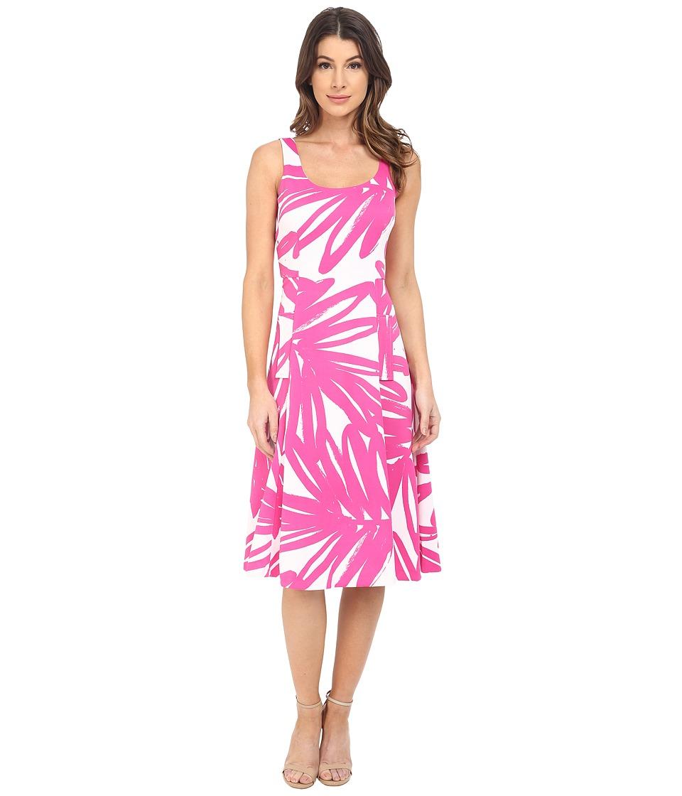 Donna Morgan Pique Knit Sleeveless Scoop Midi Dress Enamel/Flux Womens Dress