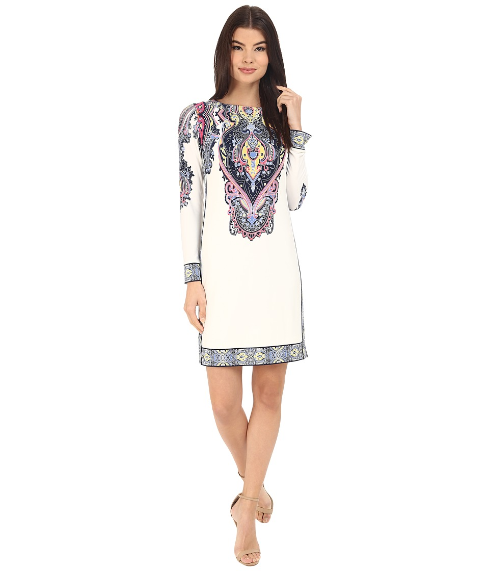 Donna Morgan 3/4 Sleeve Jersey Dress Mimosa Multi Womens Dress