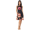Donna Morgan Sleeveless Printed Twill Fit and Flare (Midnight Multi)
