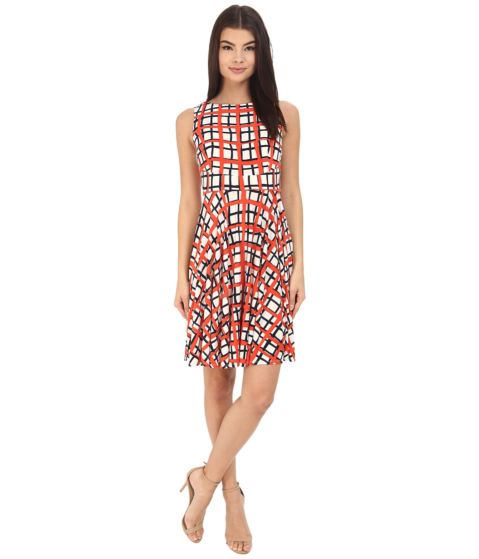Donna Morgan Sleeveless Printed Jersey with Circle Skirt Headlight Multi Womens Dress