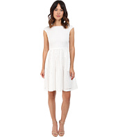 Donna Morgan - Eyelet Fit and Flare with Tie Back