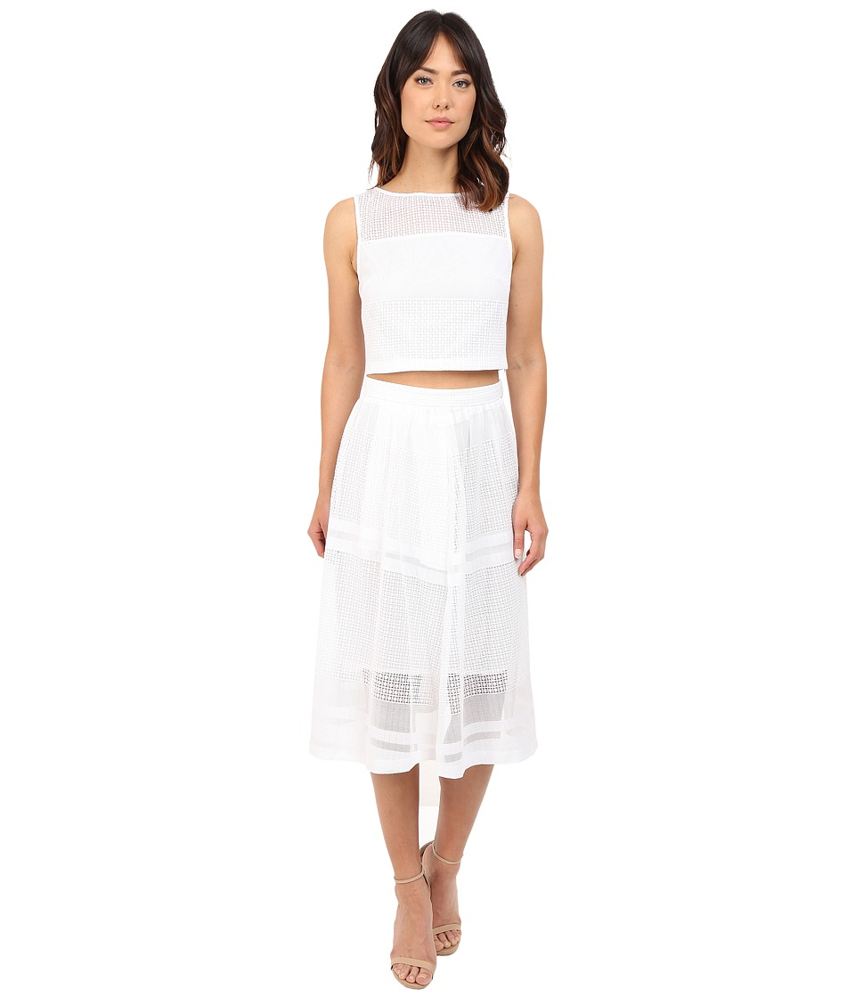 Donna Morgan Two Piece with Longer Length Skirt White Womens Dress