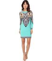 Donna Morgan - Long Sleeve Printed Jersey Dress