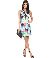 Adelyn Rae - Abstract Print Fit and Flare Dress