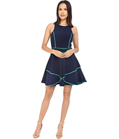 Adelyn Rae - Fit and Flare Dress with Contrast Piping