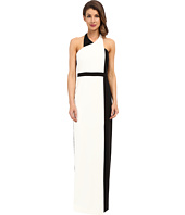 Badgley Mischka - Color Block Gown with Belt