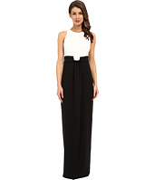 Badgley Mischka - Drape Front Black White Gown